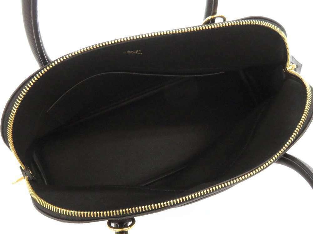 HERMES Bolide 31 Taurillon Clemence Noir 2Way Handbag Shoulder Bag #C Authentic image 7
