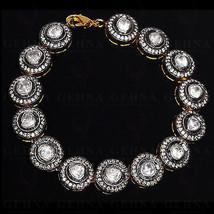 Handmade Vintage Inspired 5.42Ctw Rose Cut Diamond Silver Tennis Bracele... - $775.00