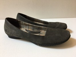 Born Handcrafted Womens Sz 7.5/38.5 M Gray Suede Leather Flats Shoes - $29.09