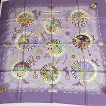 Hermes Scarf Escales Mediterraneennes Silk 90 cm Purple Carre Shawl Stole NEW - $394.07