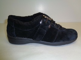 Easy Spirit Size 6 M IDRIS Black Suede Fur Fashion Sneakers New Womens S... - €62,34 EUR
