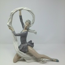 "Lladro Nao Ballet Dancer with Scarf Veil 185 Large Figurine 13""  - $144.50"