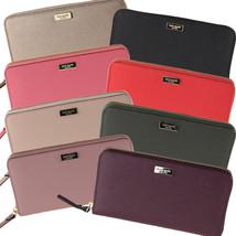 Nwt Kate Spade New York Laurel Way Neda Wallet Red Black Pink Plum WLRU2669 - $110.00