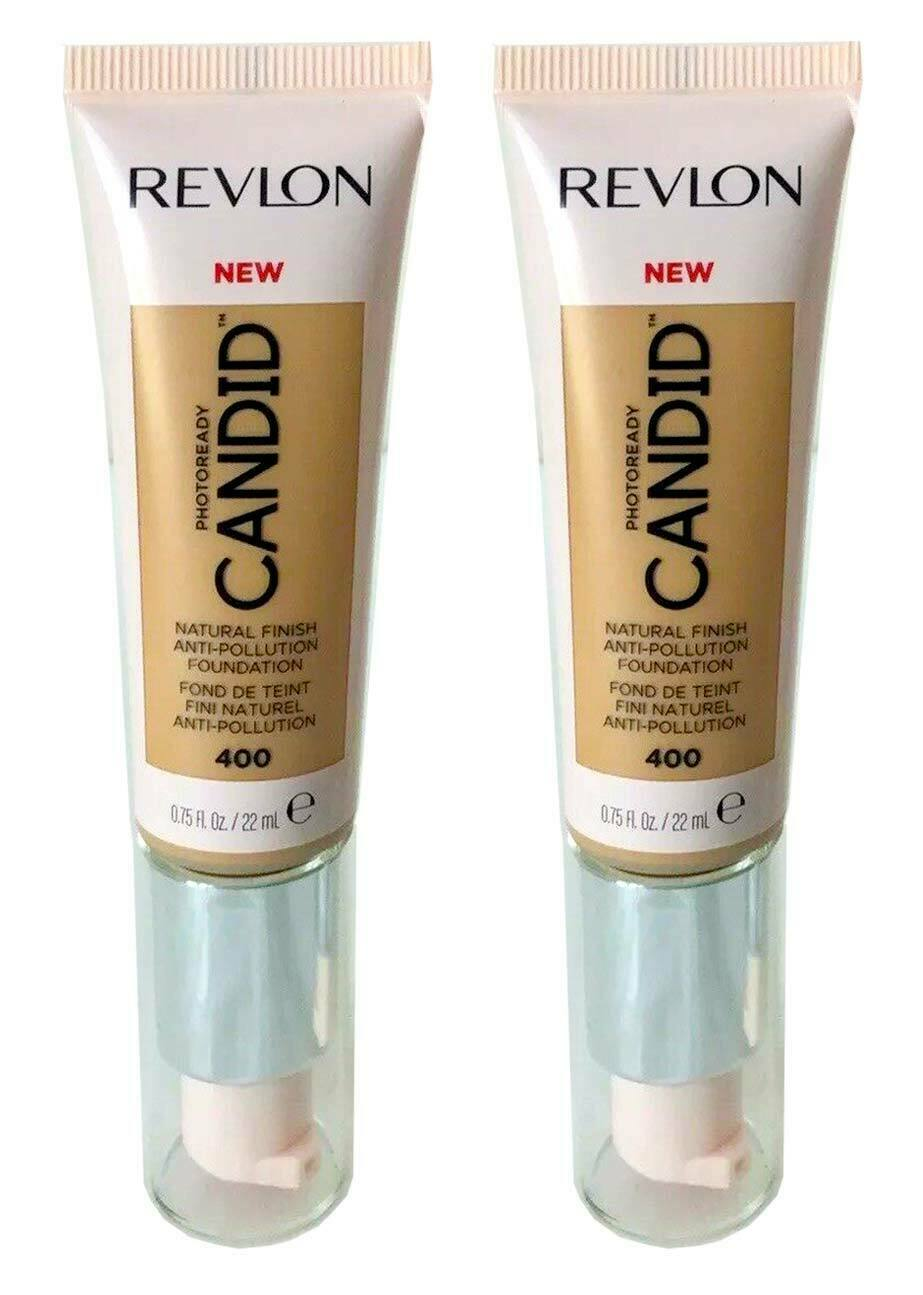 Primary image for Lot of 2, Revlon PhotoReady Candid Anti-Pollution Foundation 400 Macadamia