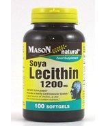 MASON NATURAL, SOYA Lecithin 1200 Mg Softgels - 100 Ea - $9.20