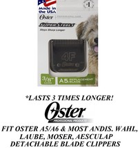 Oster Supersteels(Like Titanium)4F(4FC)BLADE Fit A5,A6,Andis Agc,Wahl Km Clipper - $38.84