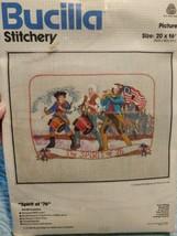 Bucilla Stitchery Spirit of '76 Embroidery Kit Colonial Patriotic #49064 - $16.83