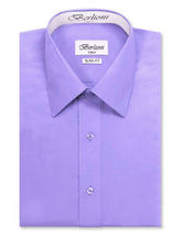 Berlioni Italy Men's Slim-Fit Premium French Convertible Cuff Solid Dress Shirt image 10