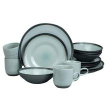 Diana 16 Piece Reactive Metallic Porcelain Dinnerware Set, by EuroCeramica - $115.78