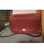 Vintage Coach Brown Leather Flap Turn lock Bag Bonnie Cashin Convertible... - $80.00