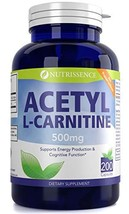 Nutrissence Acetyl L-Carnitine 500mg 200 Capsules
