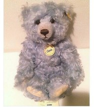 Steiff Classic Teddy bear Blue Curly Mohair Rare New - $713.78