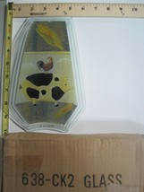 FREE US SHIP OK Touch Lamp Replacement Glass Panel Pig Rooster Folk Art ... - $9.75