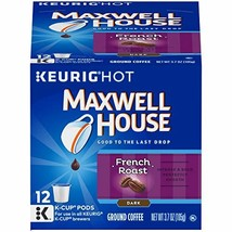 Maxwell House French Roast K-Cup Pods, 72 Count (6 Packs of 12) - $57.44