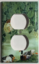 Chinese Printing Ducks Flower Light Switch Outlet wall Cover Plate Home Decor image 2