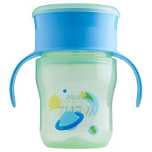 Philips Avent My First Big Kid Cup Green/Blue 9m+ 360 degree BPA Free 9 oz  - $7.47