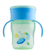 Philips Avent My First Big Kid Cup Green/Blue 9m+ 360 degree BPA Free 9 oz  - $7.40
