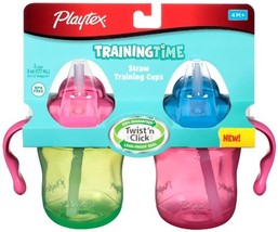 Playtex Training Time Straw Cups, 6 Ounce, 2 Count Colors may vary Disco... - $9.97