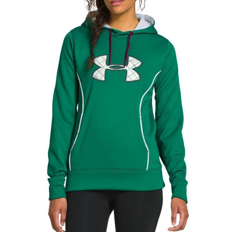 NEW UNDER ARMOUR WOMEN'S PREMIUM STORM CALIBER SPORT GYM WORK OUT HOODIE GREEN