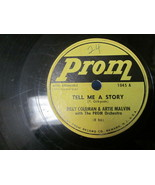 """10"""" 78 rpm RECORD PROM BILLY COLEMAN & ARTIE MALVIN TELL ME A STORY / LO... - £7.62 GBP"""