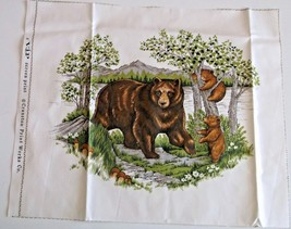"""Bear Quilting Crafting Sewing Pillow Panel 14.25"""" x 12.5"""" Cranston Scree... - $5.24"""