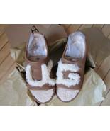 UGG Slipper Shoes Logo Shearling Slide Chestnut BK5 6 fits W6.5 - 7.5 - $84.99