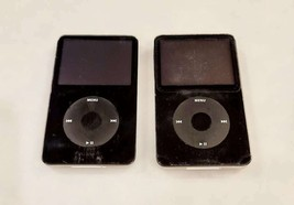 +++ Lot Of 2 Apple Black iPods Classic - Model A1238 for Repair - $98.00