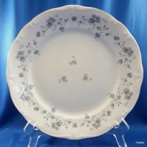 Johann Haviland Blue Garland Dinner Plate White Blue Floral Platinum Tri... - $15.84