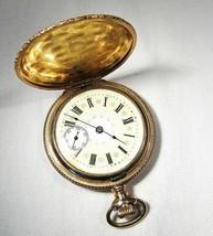 Vintage 1904 Elgin 15 Ruby Jewel Fancy Dial Gold Fill Pocket Watch RUNS C2956 - $384.89