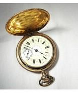 Vintage 1904 Elgin 15 Ruby Jewel Fancy Dial Gold Fill Pocket Watch RUNS ... - $384.89