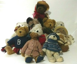 Boyds Bears Jointed Plush Lot of 10 For Collectors Crafters - $56.10