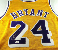 KOBE BRYANT / LOS ANGELES LAKERS / AUTOGRAPHED LAKERS YELLOW CUSTOM JERSEY / COA image 1