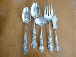 5pc Heritage 1847 Rogers Bros Silver Plate Ladle Serving Spoon Fork Butter Veget - $44.99