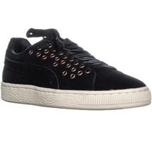 PUMA Suede XL Lace VR Wn's Lace Up Low Top Sneakers, Puma Black/Puma Black - $45.99+