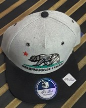 Cali Republic Bear Flat Bill Snapback Hat Pit Bull Baseball California M... - £4.44 GBP