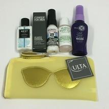 Lot of 5 Redken, NEST, Mario Badescu, Yellow Sunglasses Ulta Beauty Makeup Bag - $22.95