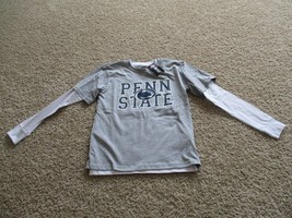 BNWT Penn State 2-in-1 boys T-shirt, M(10/12), Grey short & wht long sle... - $24.74