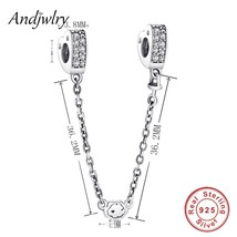 Fit Original Pandora Charms Bracelet 925 Sterling Silver White Zircon Sa... - $21.99
