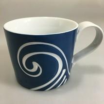 Starbucks Blue White Wave Swirl Engraved Coffee Mug 13 oz 2008 - $24.01