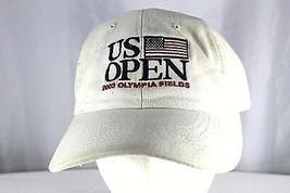 US Open 2003 Olympia Field Tan Baseball Cap Adjustable Back USGA Member - $18.99