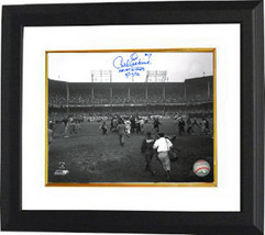 Carl Erskine signed Brooklyn Dodgers 8x10 Vintage B&W Photo Custom Frame... - $84.95