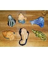 Vintage 1997 WADE WATER LIFE Series  Set of 6 Porcelain Figurines - $98.99