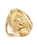 10K Yellow Gold Saint Christopher Oval Ring - $69.99