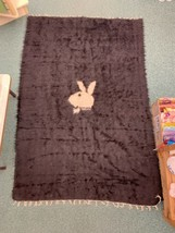 Vintage Playboy Bunny fur Rug 1969 Turkey US Military 4.5' x 6.5' wall h... - $1,999.00