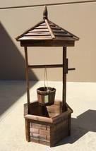 "Rustic Wooden Wishing Well Planter Garden Hallow Base 44"" High - $169.95"