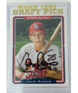 Colby Rasmus 2005 Draft Pick Card Topps Signed St. Louis Cardinals - $9.89