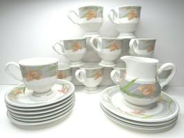20 PC VTG Sango #378 Cherish 10 Tea Cups 6 Saucers 3 Bread Plate 1 Cream... - $69.27