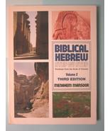 Biblical Hebrew step by step, Volume 2, Menahem Mansoor, Baker 1997, Lik... - $10.36