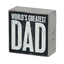 Primitives by Kathy Square Box Sign, 4-Inch, Greatest Dad - $6.94