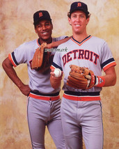 MLB Detroit Tigers Sweet Lou Whitaker Alan Trammell Color 8 X 10 Photo Picture - $5.99